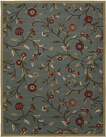 Ottomanson Ottohome Collection Floral Garden Design Modern Area Rug With  Non Skid (Non