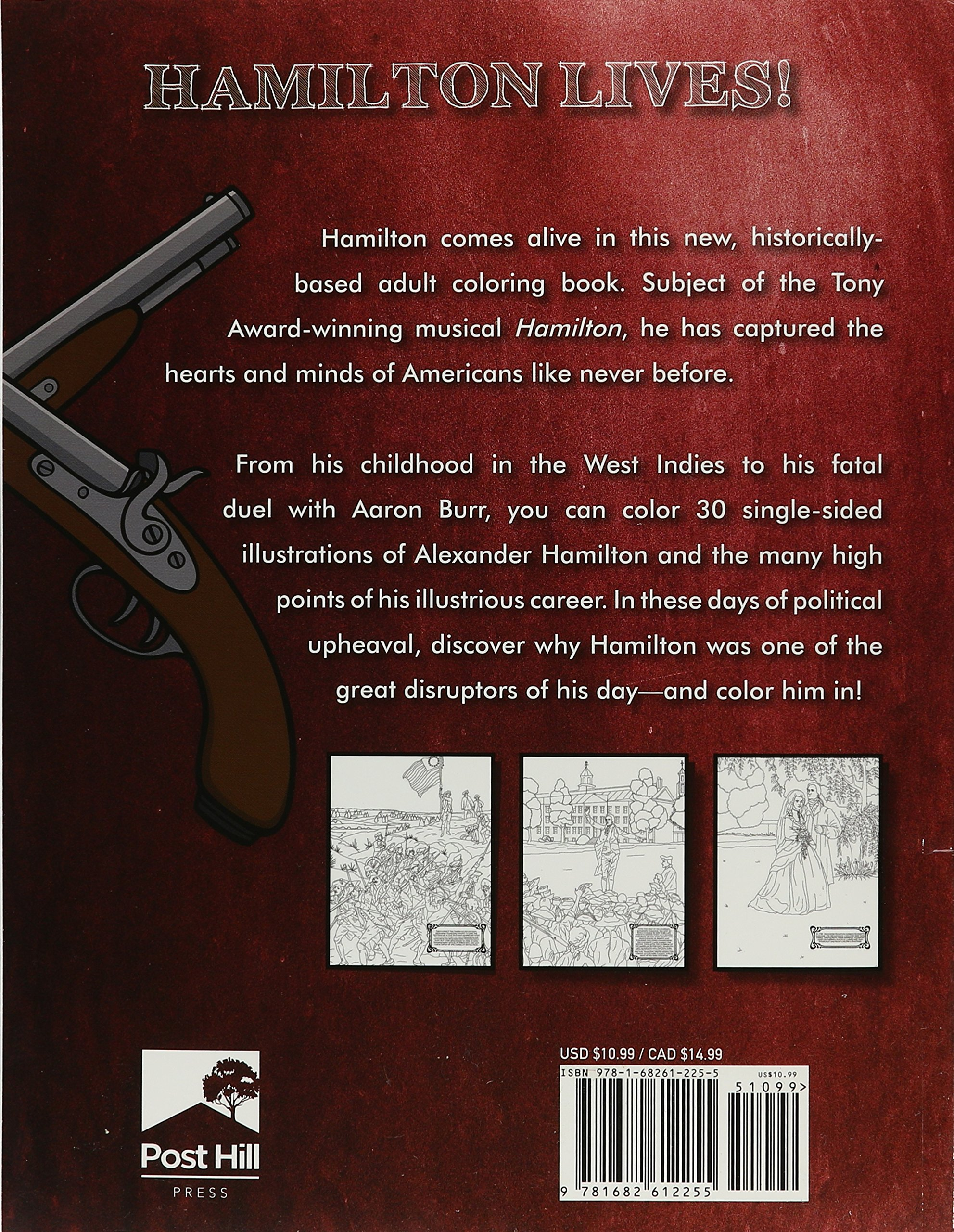 Hamilton: The Adult Coloring Book: M. G. Anthony: 9781682612255:  Amazon.com: Books