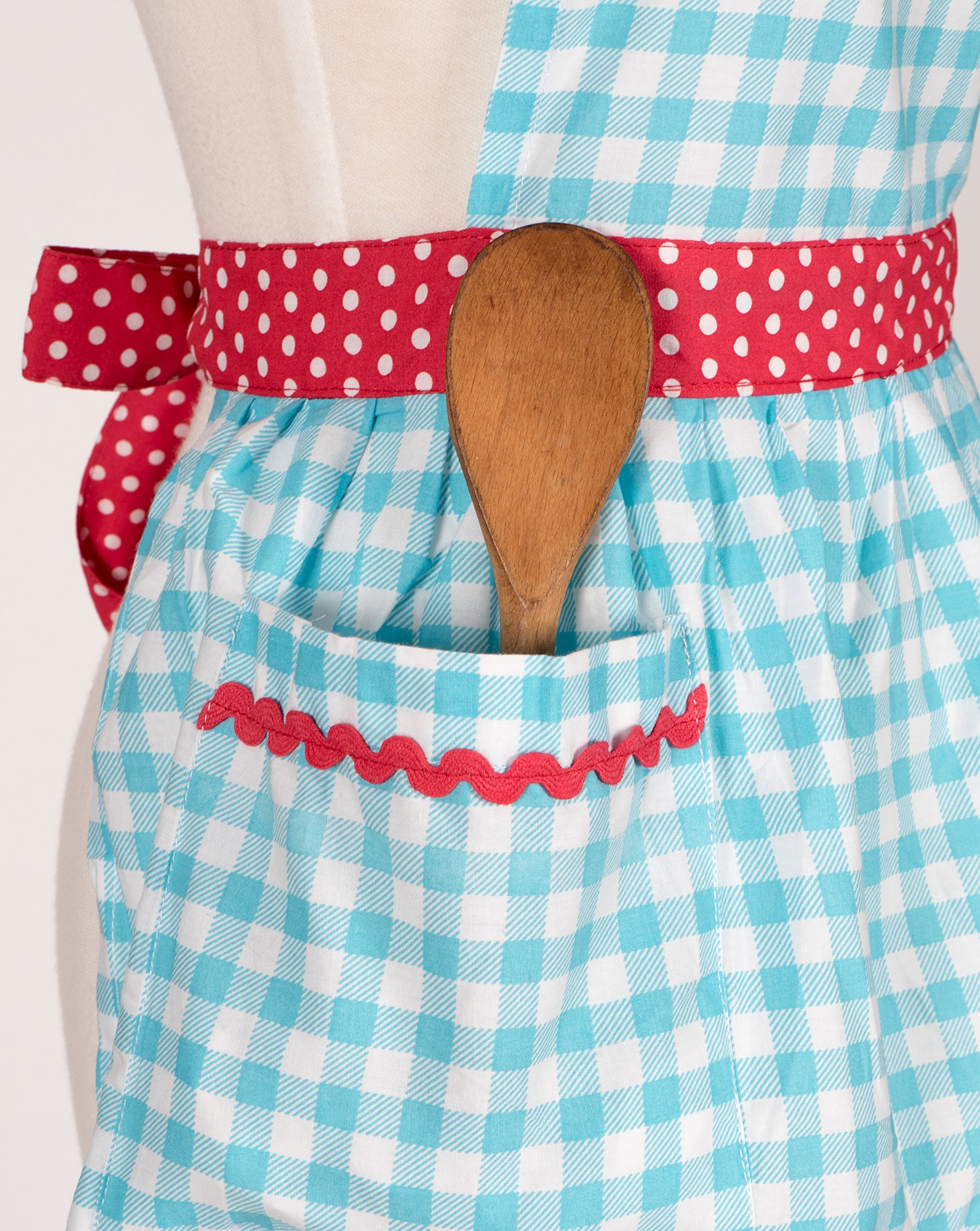 KAF Home Adult's Hostess Apron, Mary Ann, Adjustable Fit, Machine Washable