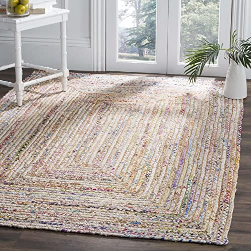Safavieh Cape Cod Collection CAP202B Handmade Woven Jute/ Cotton Area Rug