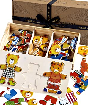 2 Piece Puzzle Set for Kids Wooden