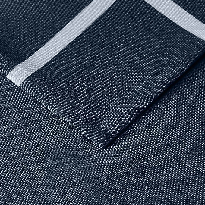 Navy Simple Plaid Basics 135 x 200 cm Azul marino a cuadros Juego de funda n/órdica de microfibra ligera de microfibra