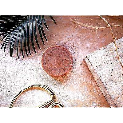Jabón facial purificante de arcilla rosa y cacao - 100% ecológico, vegano y hecho a mano