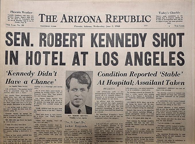 amazon com 1968 june 5 arizona republic sen robert kennedy