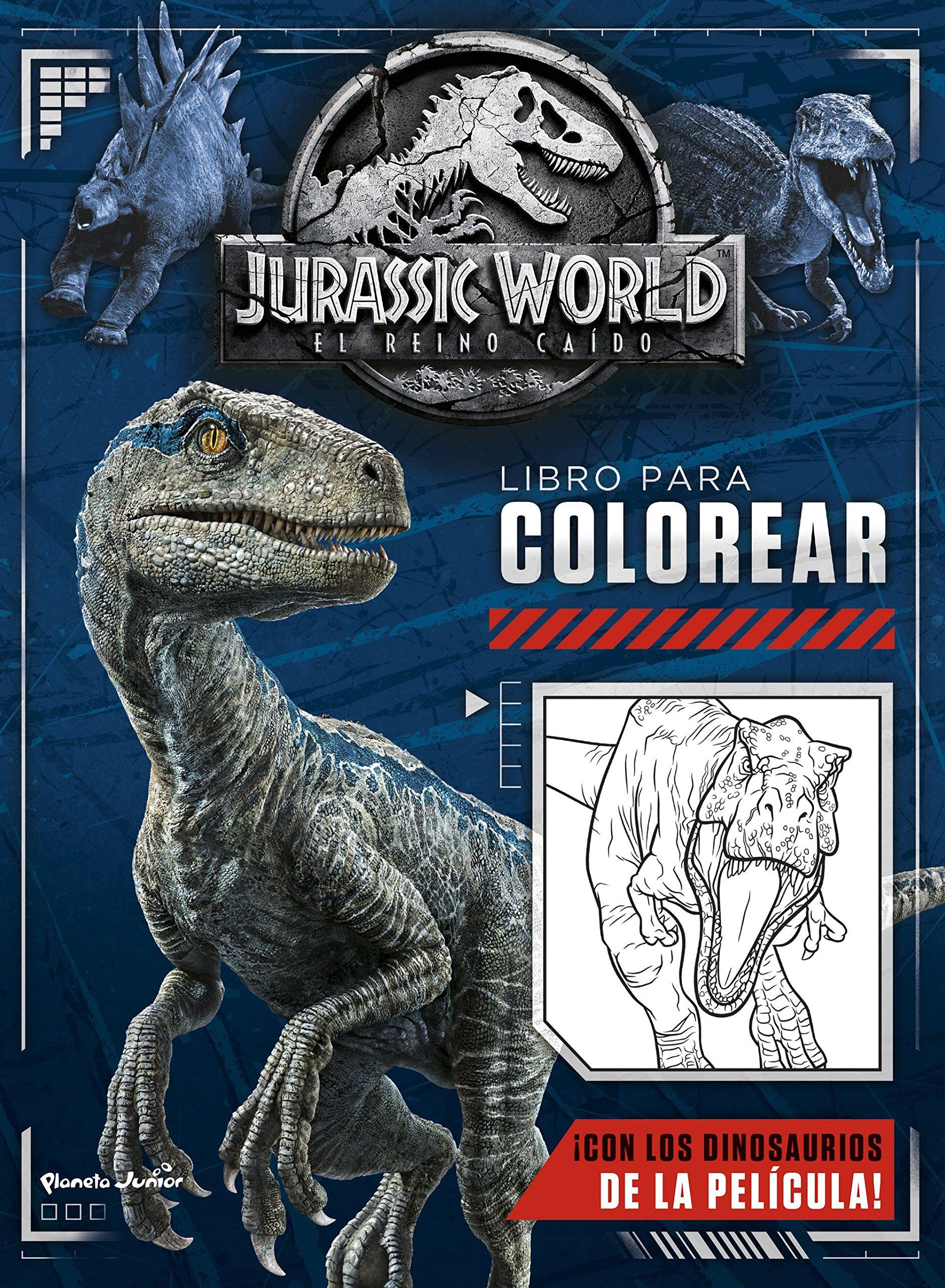 Jurassic World El Reino Caído Libro Para Colorear Amazones