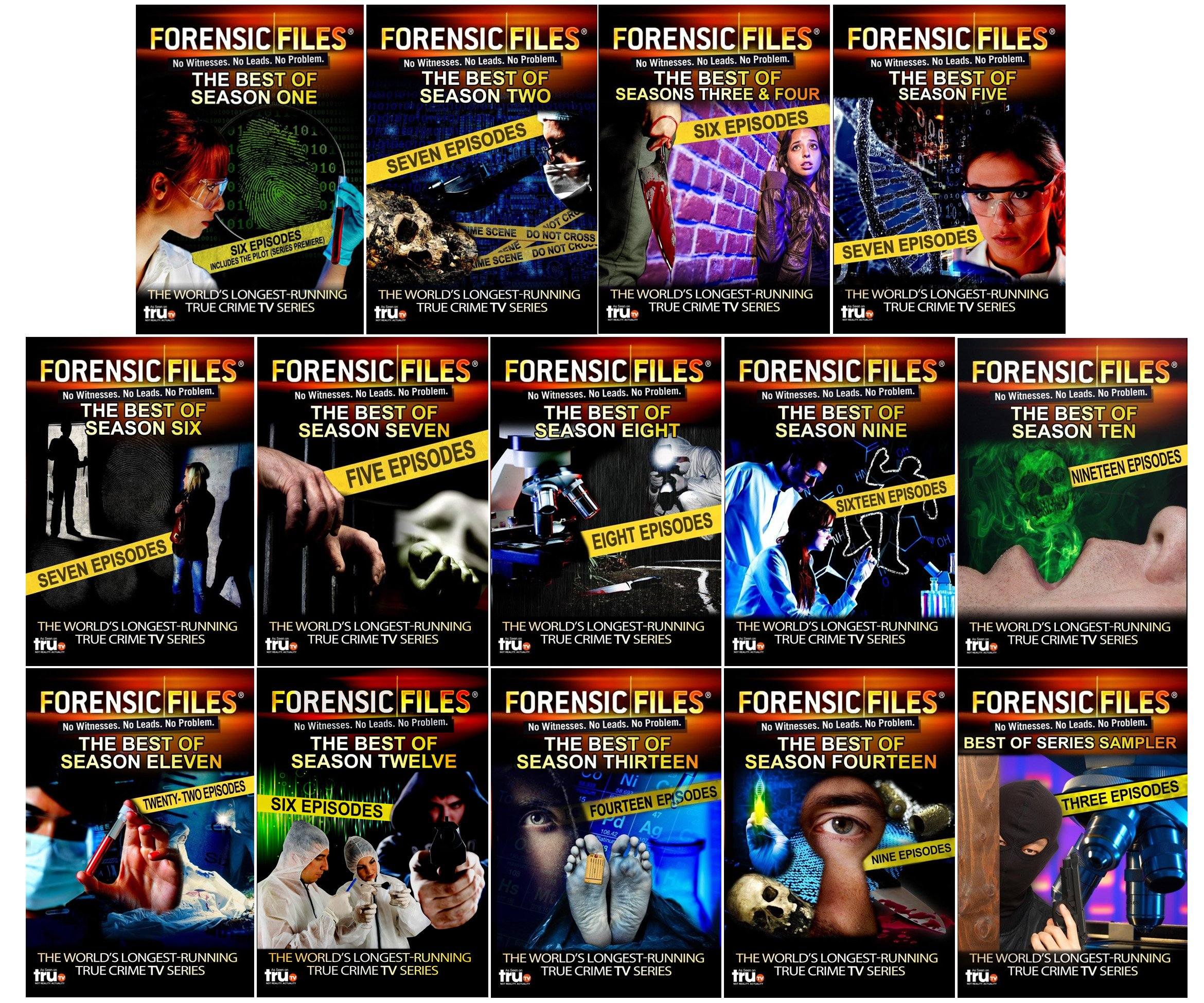 Forensic Files: The Best of All 14 Seasons - 137 Episodes - 39 DVD Collection
