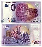 """0 Euro Schein """" Affenberg Salem"""" 2017 Null Euro Souvenir mit verschiedenen Sehenswürdigkeiten"""