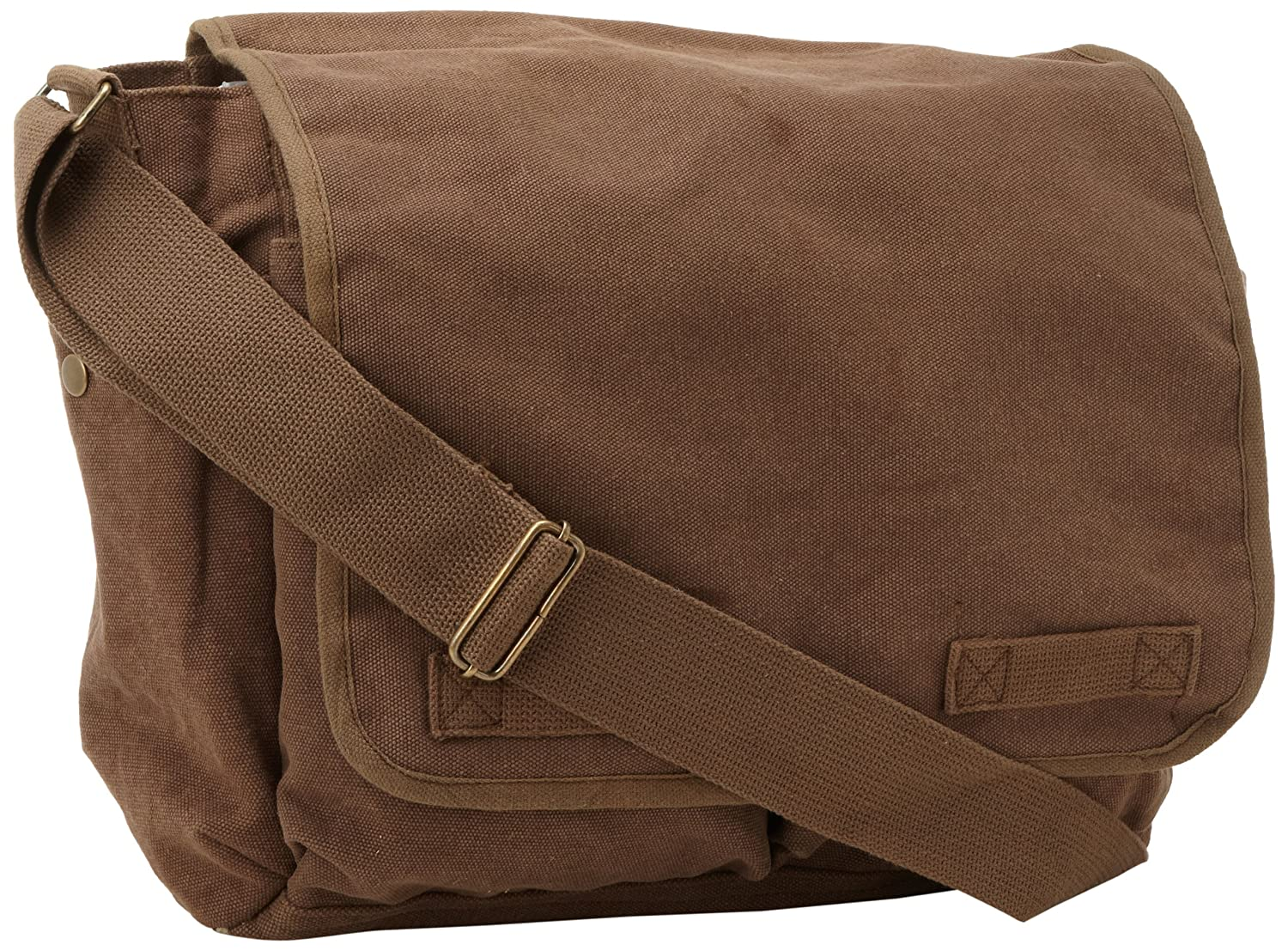 Brown Classic Army Messenger Heavy Weight Shoulder Bag Rothco A-510