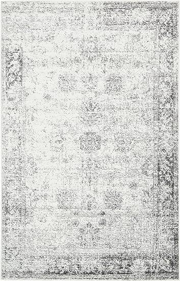 Unique Loom Sofia Collection Gray 5 X 8 Area Rug (5u0027 X ...