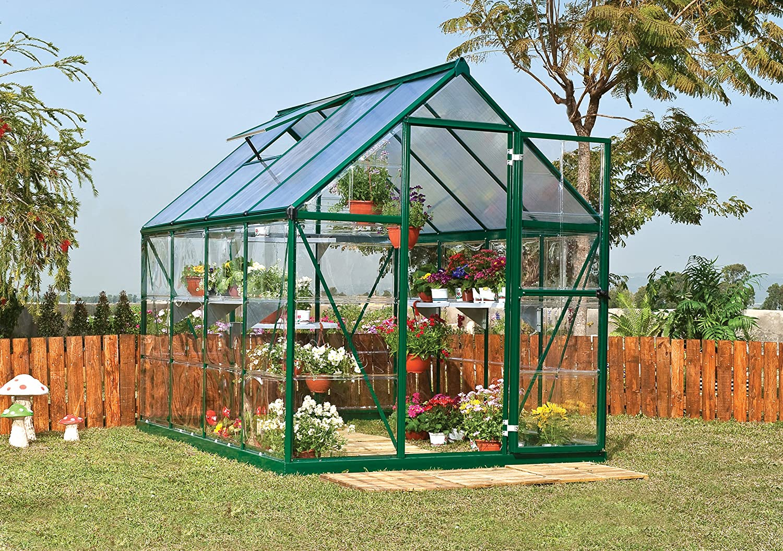 amazon com palram nature series hybrid hobby greenhouse 6 u0027 x 8