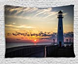 Ambesonne Lighthouse Decor Collection, Michigan