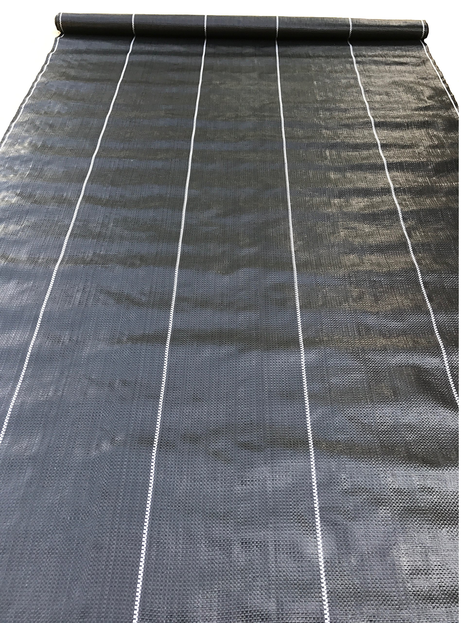 Weed Barrier Landscape Fabric Woven Weed Block UV Resistant Professional Grade 3.24 oz (4 x 300 ft, Black)