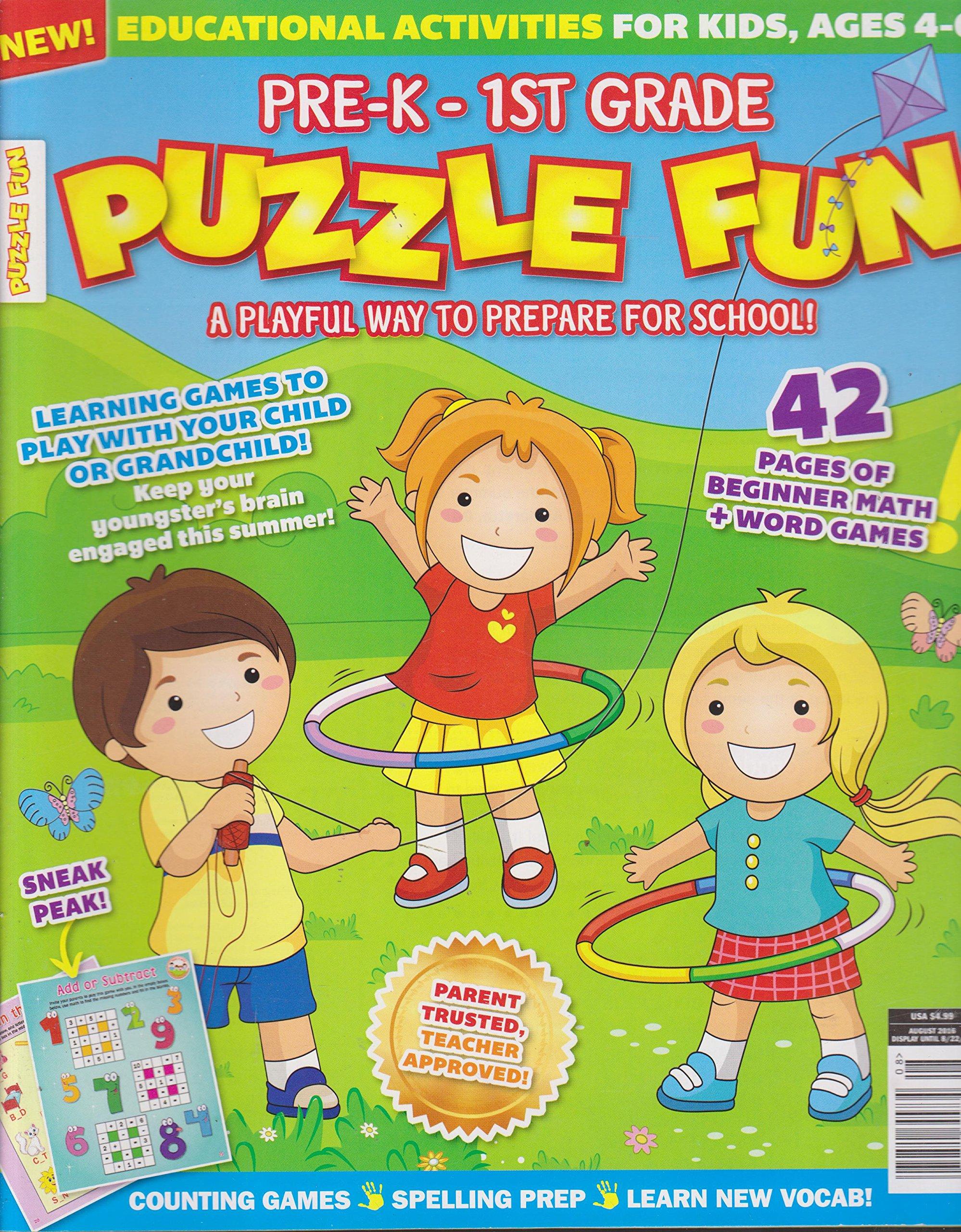 Read Online Pre K - 1st Grade Puzzle Fun Magazine August 2016 ebook