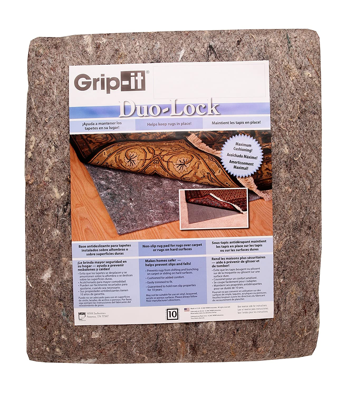 Amazon.com: Duo Lock Reversible Felt And Rubber Non Slip Rug Pad, Size: 4u0027  X 6u0027 Rug Pad: Kitchen U0026 Dining