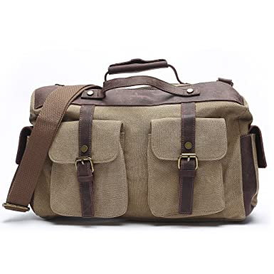 7b4abd7d03d8 Vintage Canvas Laptop Messenger Bag Men Business Shoulder bag Briefcase