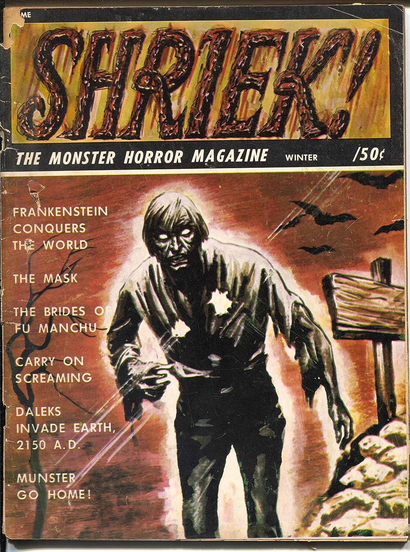 Shriek #4 -Winter 1967-Fu Manchu-The Mask-Frankenstein-G/VG at ...