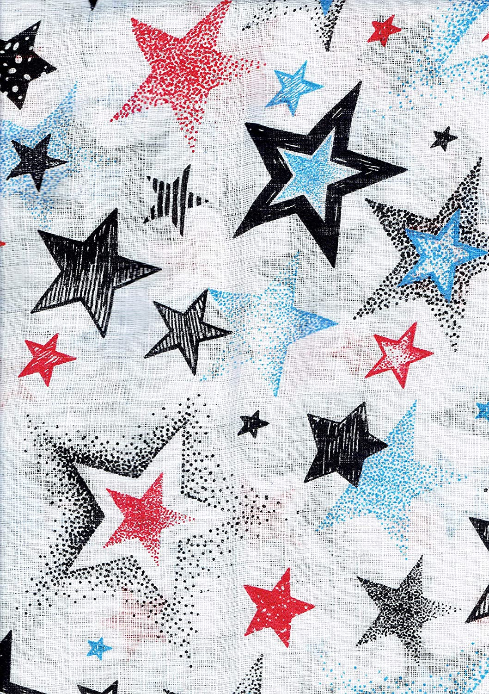 Sterne blau Baby Mullwindeln Spuckt/ücher 70 x 80 cm von Family-Kollektion I 5 x Baumwolle Mullt/ücher I Baumwollwindeln Stoffwindeln Set
