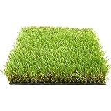 Gazon Permanent Luxor type pelouse / herbe / gazon synthétique artificiel haut de gamme 1x3M, 45mm