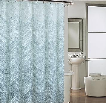 Amazon.com: Cynthia Rowley Mosaic Dots Chevron Blue White Fabric ...