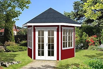 Extrem SKAN HOLZ Pavillon Almelo 28 mm, Gartenhäuser, schwedenrot, 303 x FB38