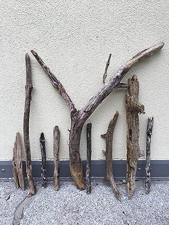 9 Treibholz Äste 65cm bis 30cm aus den Alpen Kunst Unikat Naturjuwel  Schwemmholz Deko Driftwood zum Basteln Dekorieren Treibholz Deko für  Künstler ...