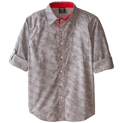 American Hawk Big Boys' Long Sleeve Woven Sport Shirt