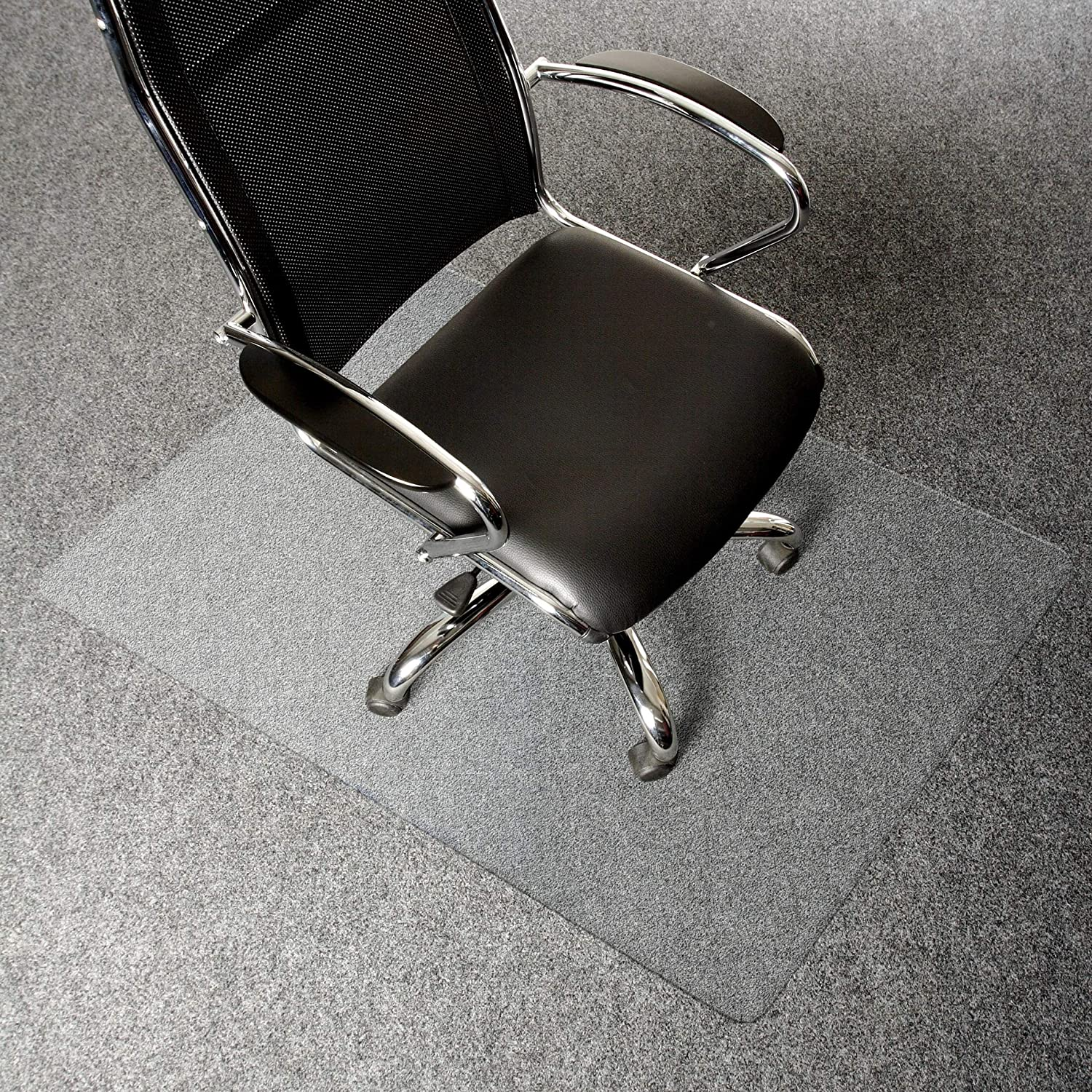 AmazonBasics Polycarbonate Office Carpet Chair Mat, for Low and Medium Pile Carpets, 30 x 47