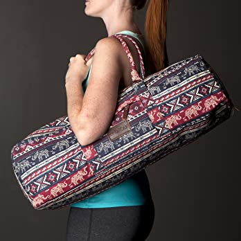 Kindfolk-Yoga-Mat-Duffel-Bag-Carrier-Patterned-Canvas