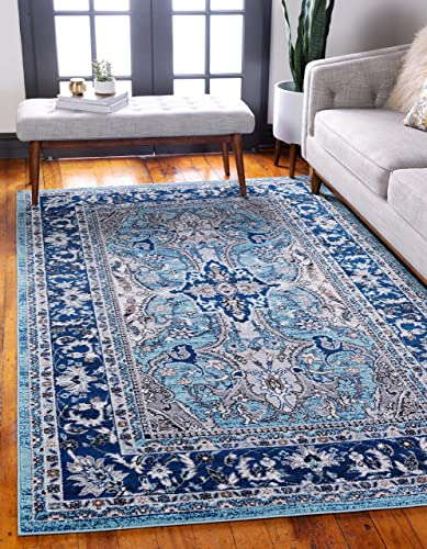 Unique Loom Tradition Collection Classic Southwestern Blue Area Rug 9' 0 x 12' 0