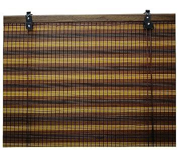 Store en bambou volet roulant rideau en bois pour les fenêtres ou ...