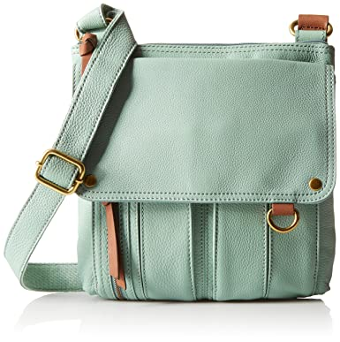 0d13019e984 Fossil Morgan Traveler Cross Body Bag, Sea Glass, One Size: Handbags ...