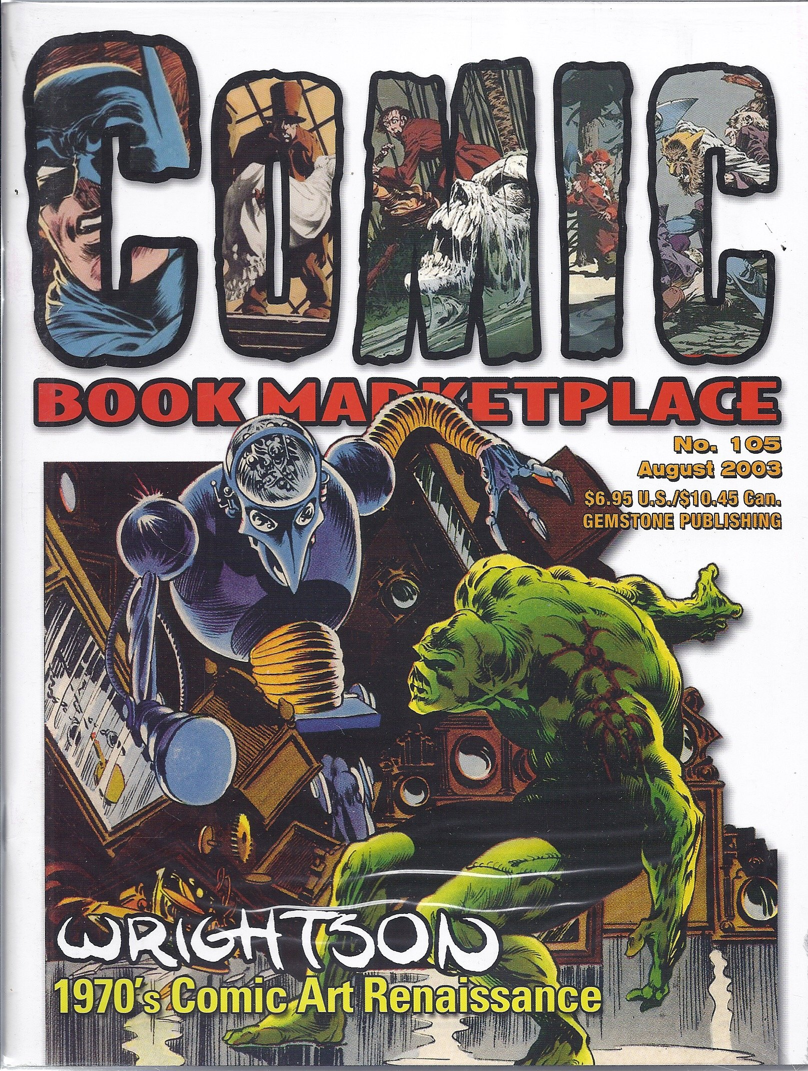 Read Online Comic Book Marketplace (#105 - August 2003 - Cover: Swamp Thing) pdf epub