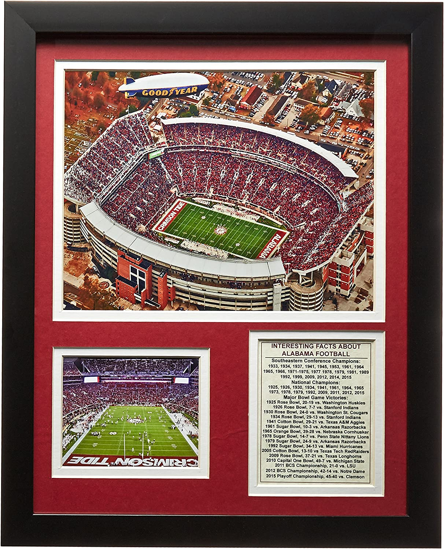 "University of Alabama - Bryant–Denny Stadium 11"" x 14"" Framed Photo Collage by Legends Never Die, Inc."