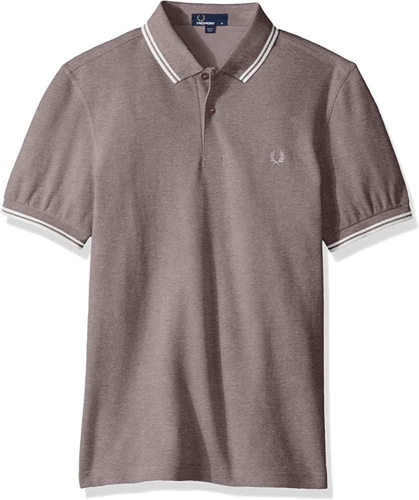 Fred Perry Twin Tipped Shirt Polo, Morado (Mahogany/Oxford Ecru ...