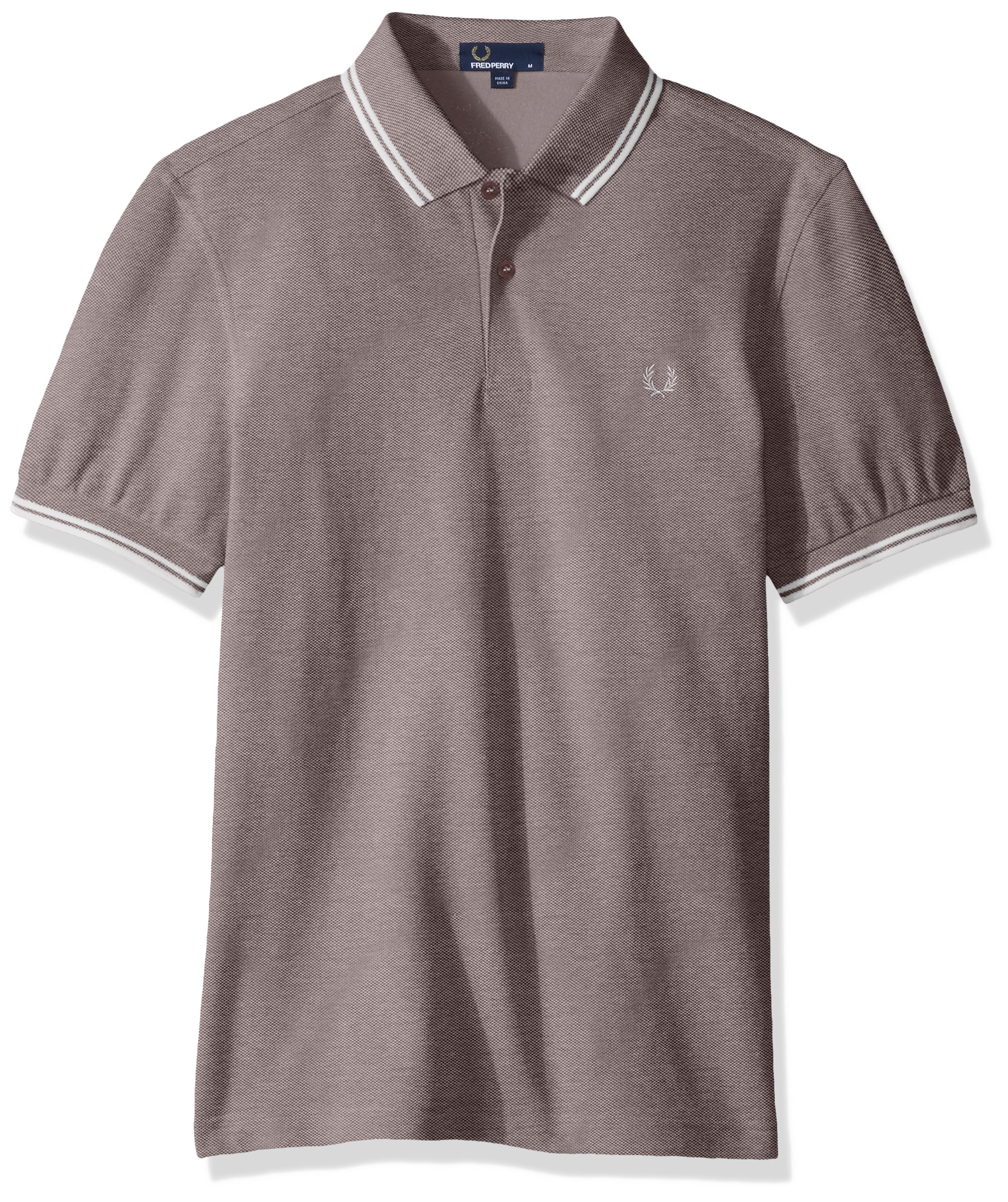 Fred Perry Men's Twin Tipped Shirt, Mahogany Oxforf, X-Large