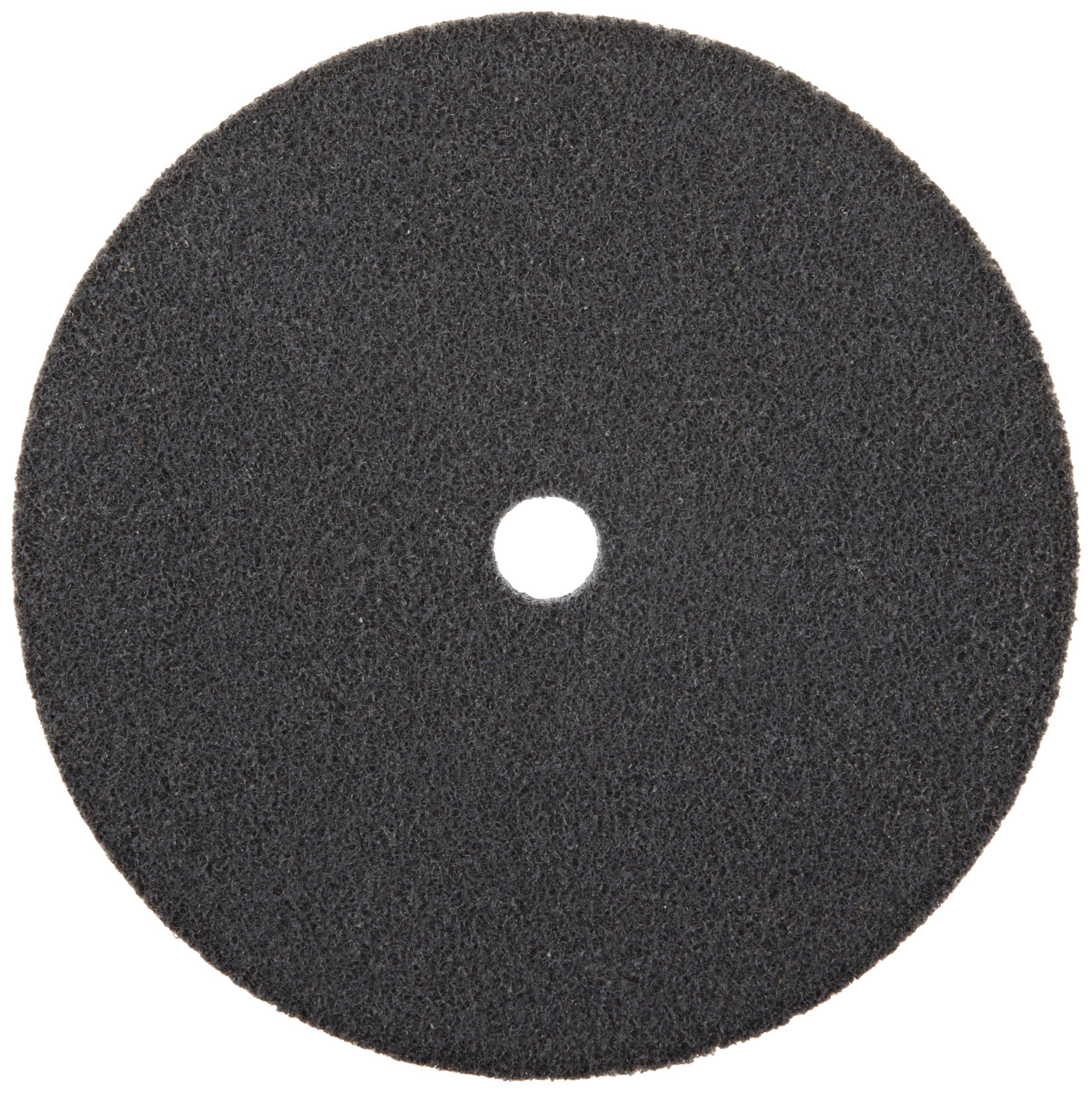 Scotch-Brite EXL Unitized Wheel, Silicon Carbide, 5000 rpm, 6'' Diameter, 5/8'' Arbor, 2S Fine Grit (Pack of 1)
