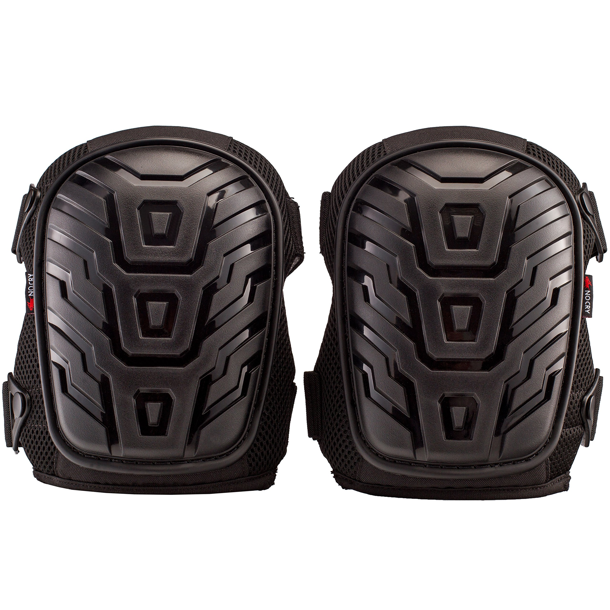NoCry Professional Knee Pads with Heavy Duty Foam Padding and Comfortable Gel Cushion, Strong Double Straps and Adjustable Easy-Fix Clips by NoCry (Image #8)