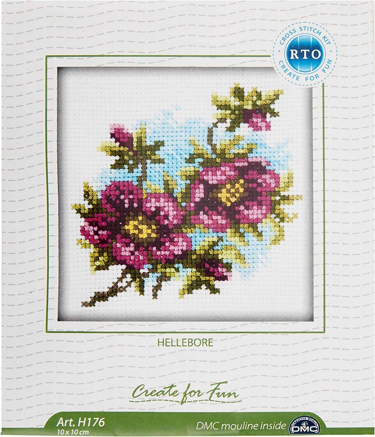 "Rto Counted Cross Stitch Kit 4/""x4/""-cornflower 14 Count"