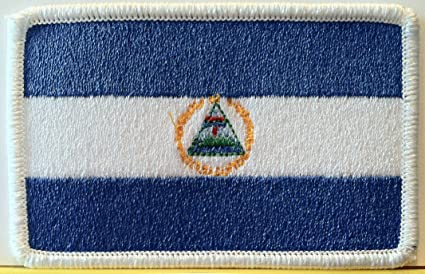 Nicaragua Flag Embroidered Patch Badge Sew or Iron on