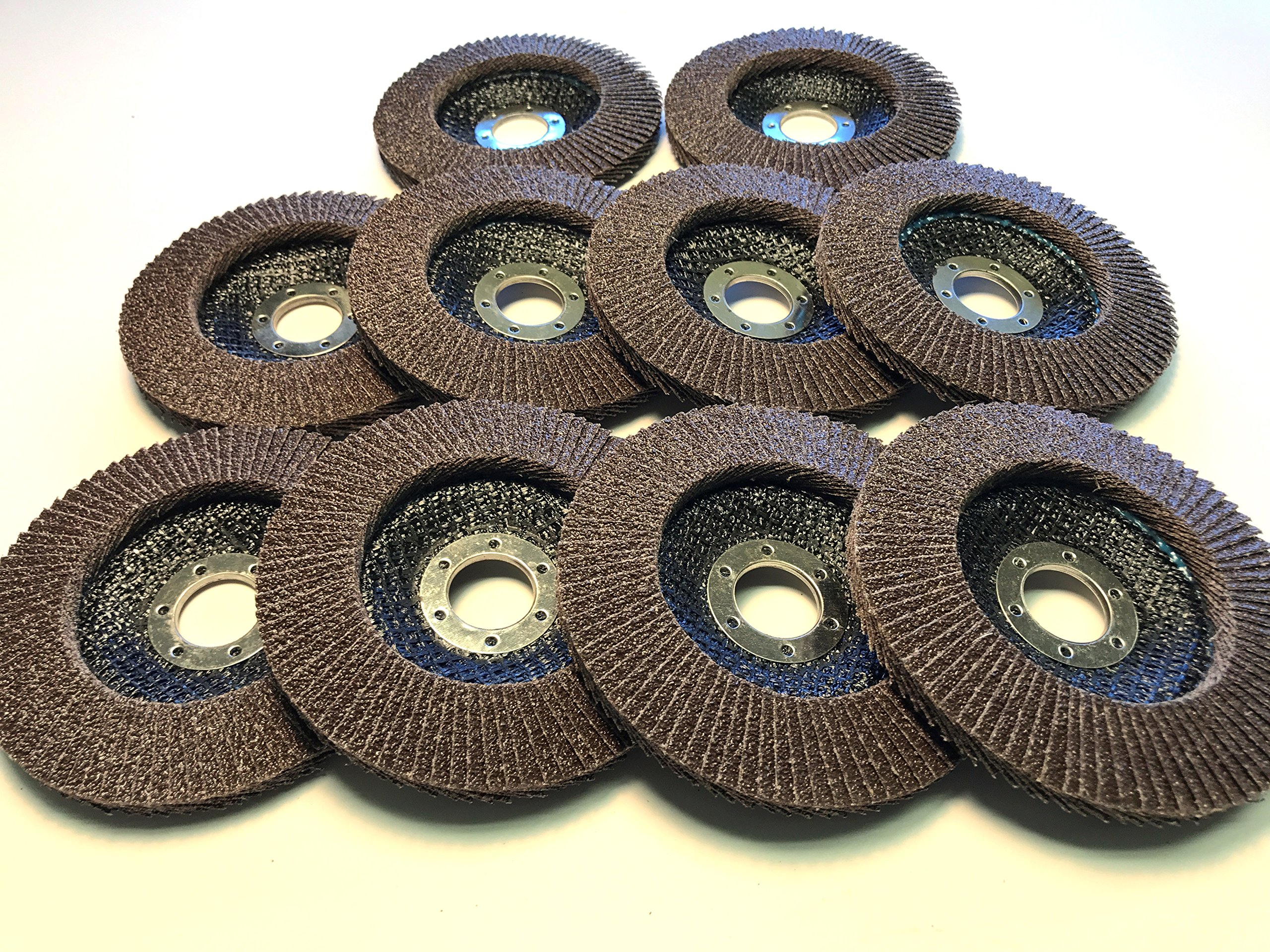 Flap Disc Wheels 60 grit 10 Pack Type 29/4.5''x7/8'' Premium