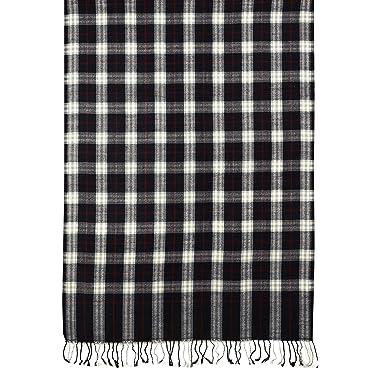 Echarpe laine Design carreaux style Burberry Noir foulards cadeaux 68 x 177  cm 6bd3e19067a