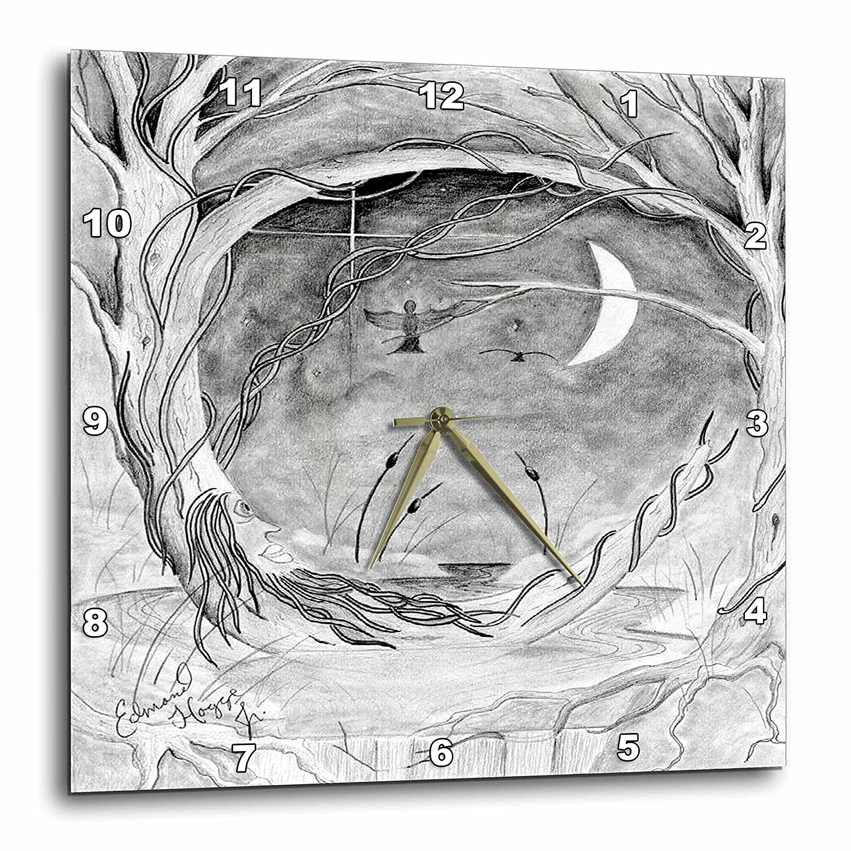 dpp/_14401/_3 The Old Oak Tree 15x15 Wall Clock 3dRose Edmond Hogge Jr Dreamscapes