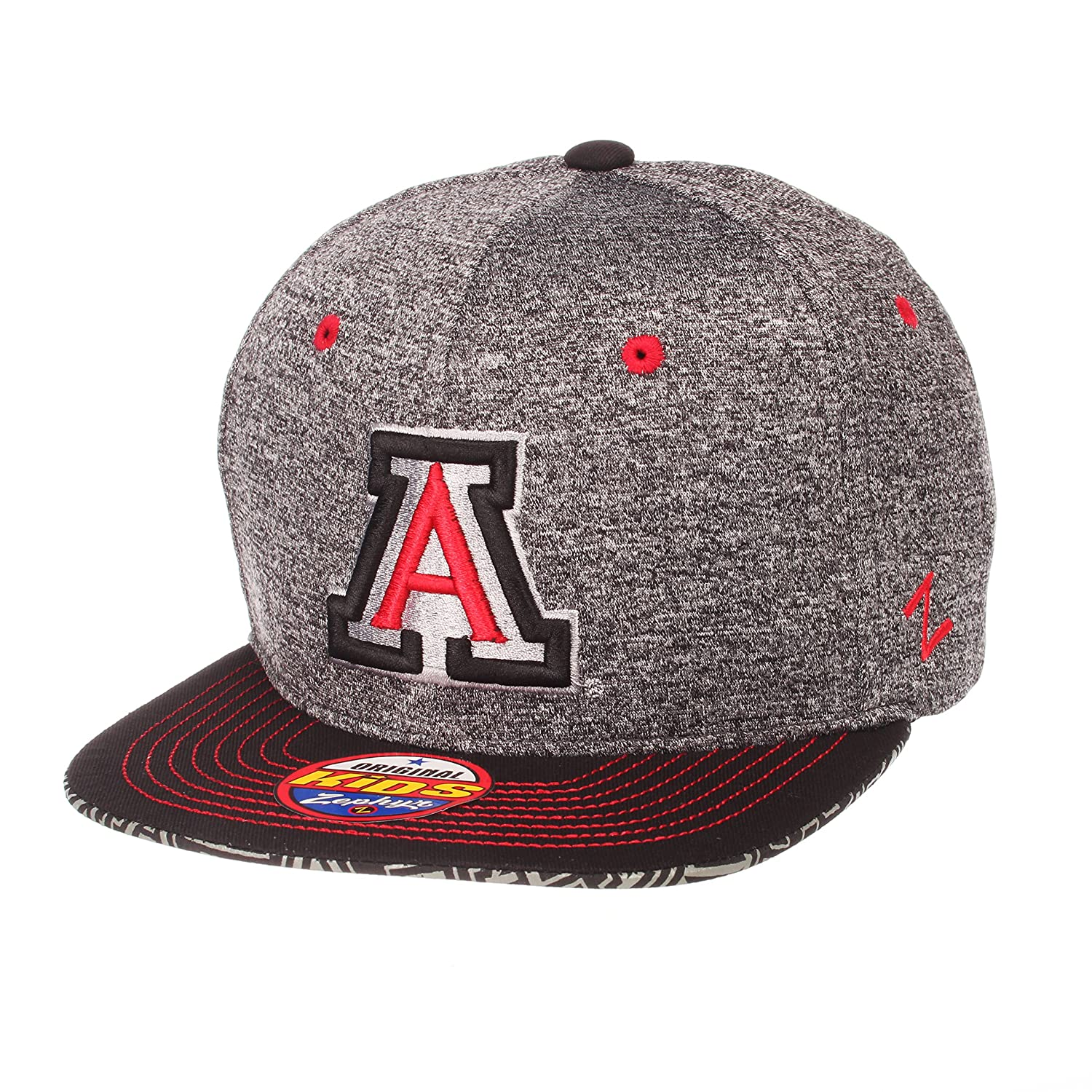 14bba27a4889f ZHATS NCAA Boys Prodigy Youth NCAA Snapback Hat Youth Adjustable Gray Team  Color Zephyr Graf