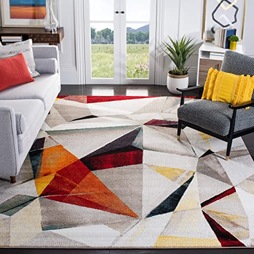 Safavieh Porcello Collection PRL6940F Modern Abstract Non-Shedding Stain Resistant Living Room Bedroom Area Rug
