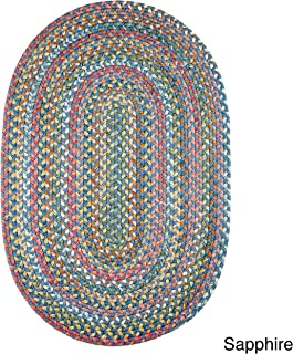 product image for Rhody Rug Charisma Indoor/Outdoor Oval Braided Rug by (7' x 9') - 7' x 9' Oval Sapphire