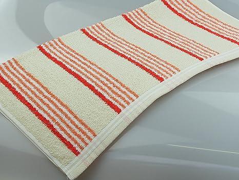 Toalla de baño con diseño de rayas, de gran calidad para el precio razonable (