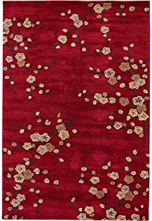 Jaipur Living Cherry Blossom Hand Tufted Polyester Floral U0026 Leaves Red Area  Rug (5