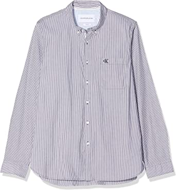 Calvin Klein Washed Stripe Stretch Shirt F Camisa para Hombre: Amazon.es: Ropa y accesorios