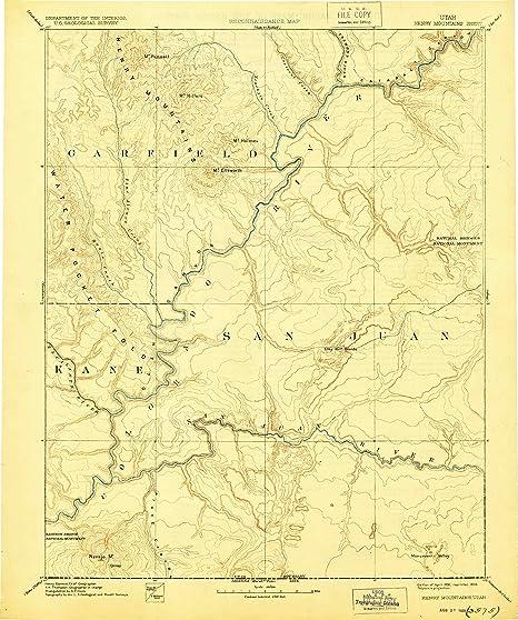Amazon.com : YellowMaps Henry Mountains UT topo map, 1:250000 Scale ...