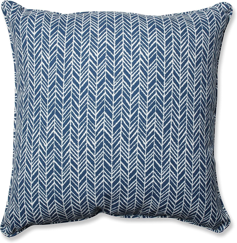 Pillow Perfect Outdoor//Indoor Carmody Navy Floor Pillow 25 x 25 Blue